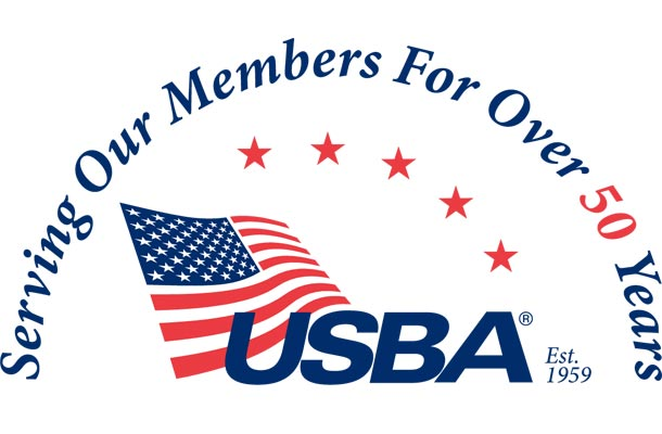 USBA's over 50 years of service logo