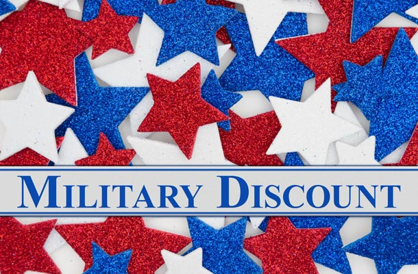 Where to find discounts for military photo