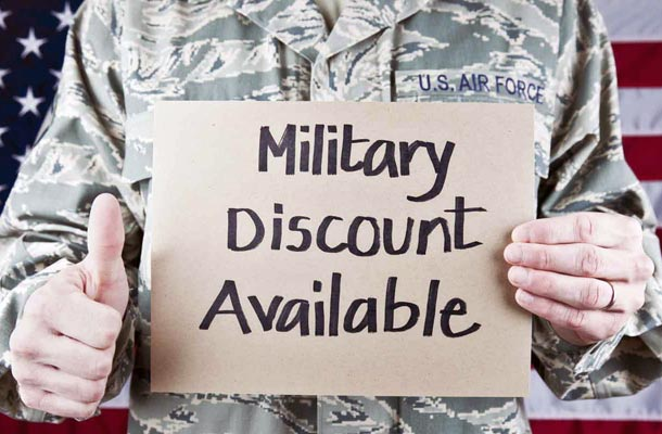 Online shopping discounts for US Military
