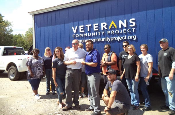 Veterans Community Project tiny homes